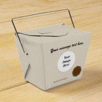 Brown Flower Ribbon Template Favor Box