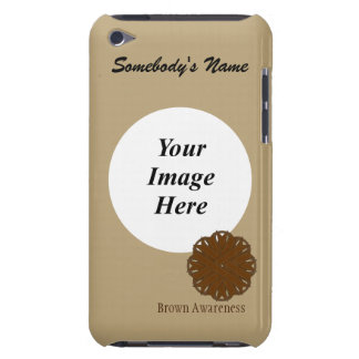 Brown Flower Ribbon Template iPod Touch Case