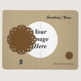 Brown Flower Ribbon Template Journal
