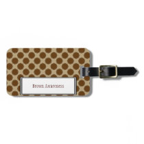 Brown Flower Ribbon Template Luggage Tag