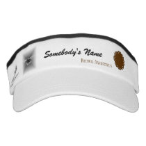 Brown Flower Ribbon Template Visor