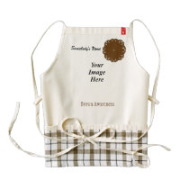 Brown Flower Ribbon Template Zazzle HEART Apron