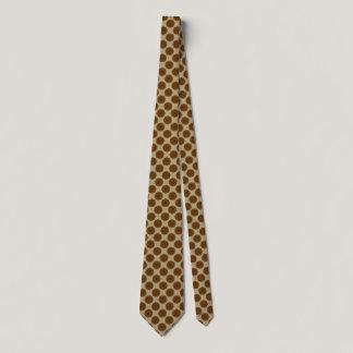 Brown Flower Ribbon Tie