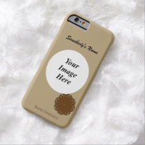 Brown Flower Ribbon Tmpl by Kenneth Yoncich Barely There iPhone 6 Case