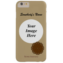 Brown Flower Ribbon Tmpl by Kenneth Yoncich Barely There iPhone 6 Plus Case