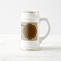 Brown Flower Ribbon Tmpl by Kenneth Yoncich Beer Stein