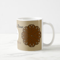 Brown Flower Ribbon Tmpl by Kenneth Yoncich Coffee Mug