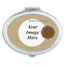Brown Flower Ribbon Tmpl by Kenneth Yoncich Compact Mirror