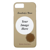Brown Flower Ribbon Tmpl by Kenneth Yoncich iPhone 8/7 Case