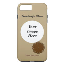 Brown Flower Ribbon Tmpl by Kenneth Yoncich iPhone 8 Plus/7 Plus Case