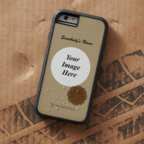 Brown Flower Ribbon Tmpl by Kenneth Yoncich Tough Xtreme iPhone 6 Case