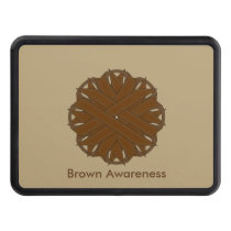Brown Flower Ribbon Trailer Hitch Cover