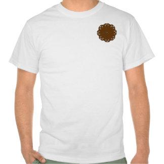 Brown Flower Ribbon Shirts