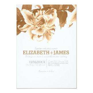 Brown Flower Wedding Invitations Custom Invitations