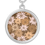 Brown Flowers necklace
