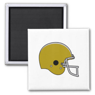 Brown Football Helmet 2 Inch Square Magnet