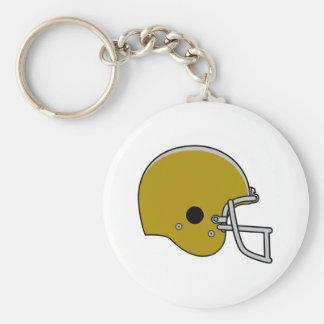 Brown Football Helmet Keychain