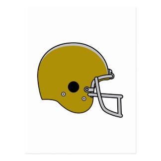 Brown Football Helmet Postcard