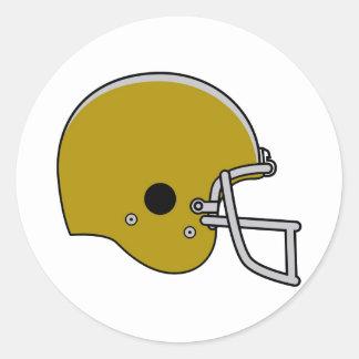 Brown Football Helmet Classic Round Sticker