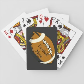 Brown Football Mom Sports Playing Cards
