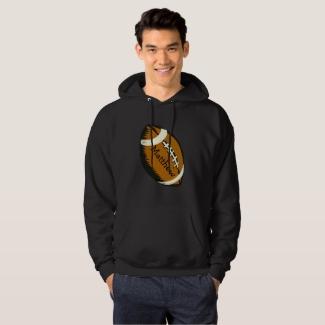 Brown Football Sports Hooded Sweatshirt
