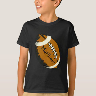 Brown Football Sports Kids Shirt