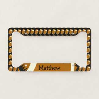 Brown Football Sports License Plate Frame