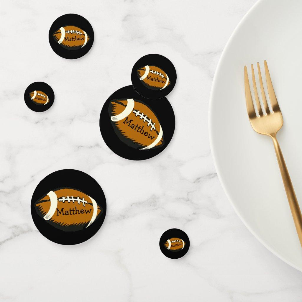 Brown Football Sports Table Confetti