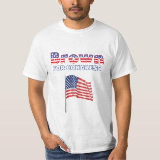 Brown for Congress Patriotic American Flag Design T-Shirt