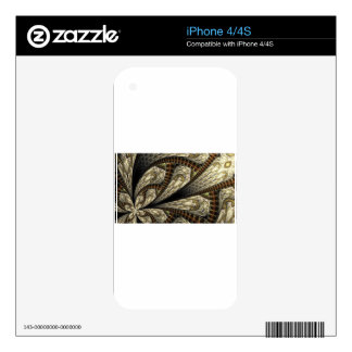 Brown fractal decal for the iPhone 4S