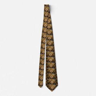 Brown Fractal Tie - Intricate