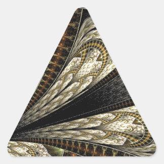 Brown fractal triangle sticker
