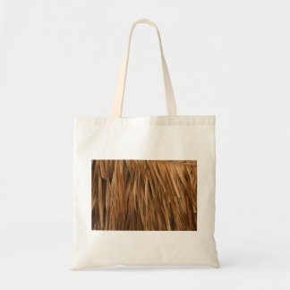 Brown frond roof pattern tote bag