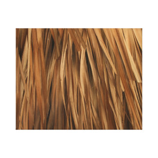 Brown frond roof pattern canvas print