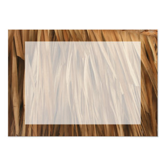 Brown frond roof pattern card