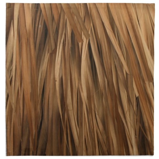 Brown frond roof pattern cloth napkin