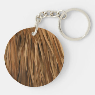 Brown frond roof pattern keychain