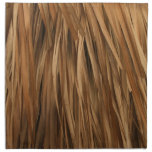 Brown frond roof pattern napkin
