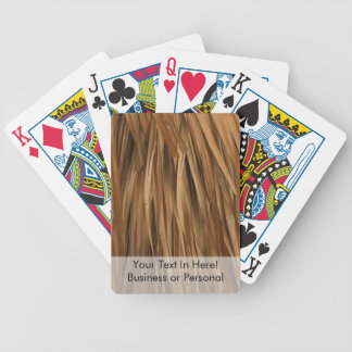 Brown frond roof pattern bicycle playing cards
