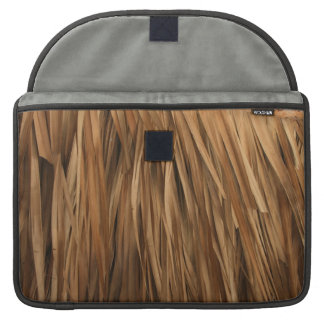 Brown frond roof pattern sleeve for MacBooks