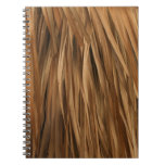 Brown frond roof pattern spiral note book