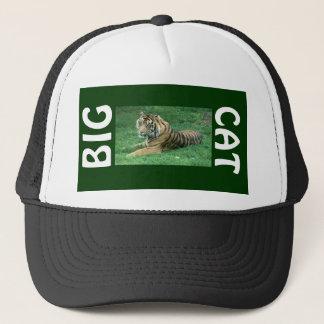 Brown Fur Black Stripes Tiger Sitting Big Cat Hat