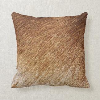 Brown Fur Texture Photo Photography Pillow Cushion