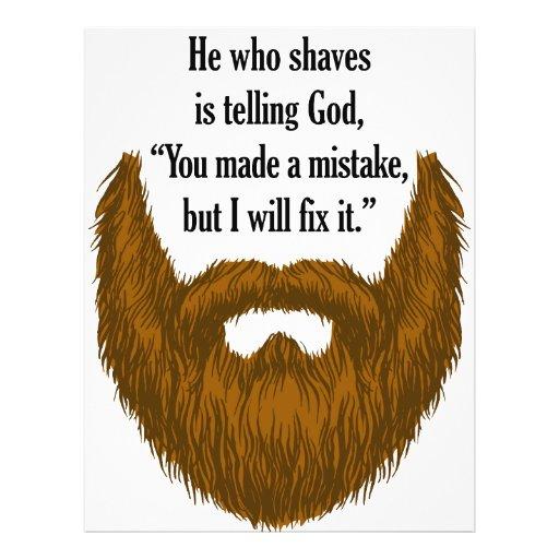 "brown fuzzy beard 8.5"" x 11"" flyer"