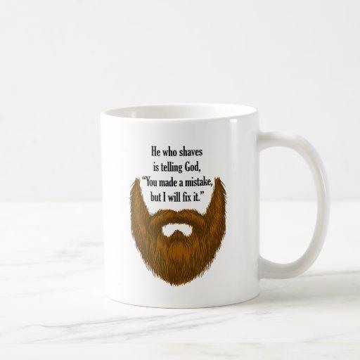 brown fuzzy beard mug