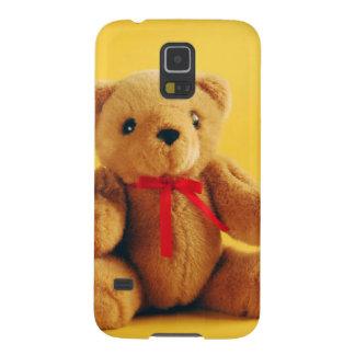 Brown fuzzy teddy bear print galaxy s5 cover