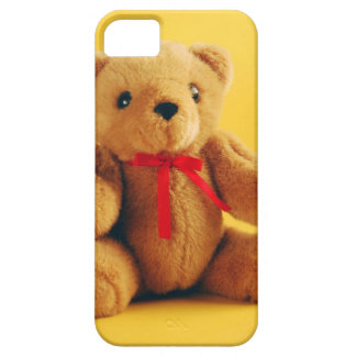 Brown fuzzy teddy bear print iPhone SE/5/5s case