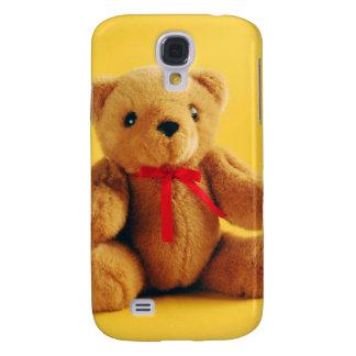 Brown fuzzy teddy bear print samsung galaxy s4 case
