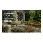 Brown Garden Seat In Rose Pergola, With Berberis A Business Cards