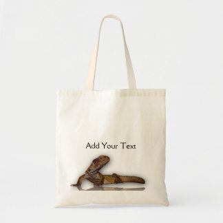 Brown Gecko on White Background Tote Bag